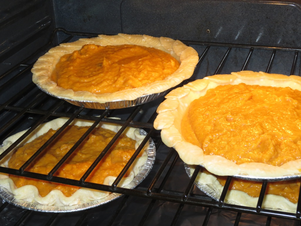 "Testing sweet potato pies two weeks ago made with ""Limoncello "" and ""Grand Marnier"""
