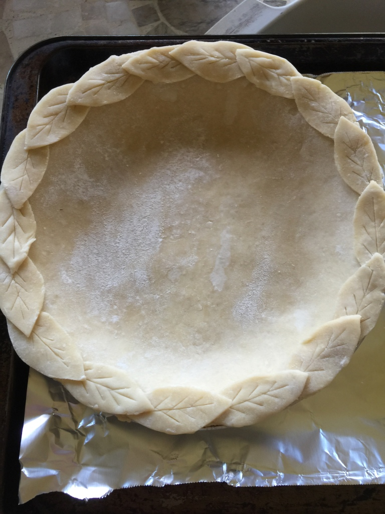 Pie crust made last Saturday for pie baking on Wednesday before Thanksgiving.